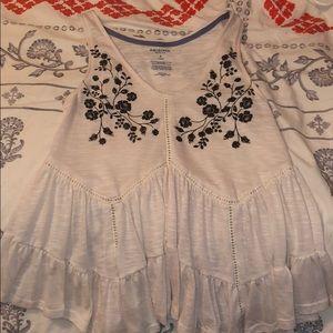 White flowy blouse/ tank top